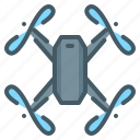 drone, quadcopter, quadrocopter, robot icon