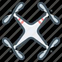 drone, quadcopter, quadrocopter, robot icon