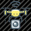 air drone, camera, drone, quadcopter, quadrocopter, robot icon