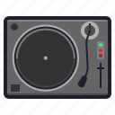 audio, dj, music, turntable, play