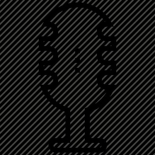 mic, microphone, radio mic, recording, vintage mic icon