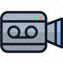 camera, electronics, movie, movie camera, multimedia, video icon
