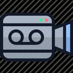 camera, electronics, movie, movie camera, multimedia, video icon