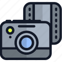 camera, electronics, media, multimedia, picture, video icon