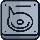 cd, computer, digital, drive, dvd, electronics, storage icon