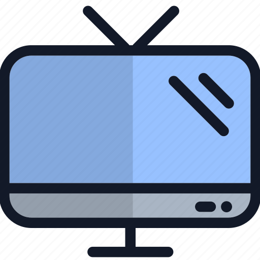 electronics, equipment, tehcnology, television, tv icon