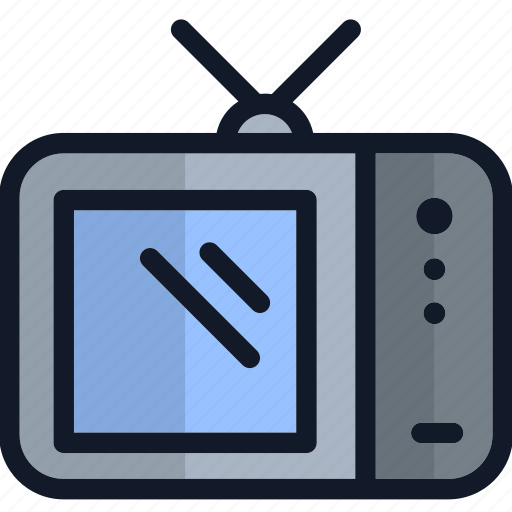 Electronics, equipment, old-fashioned, television, tv icon - Download on Iconfinder