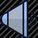bullhorn, electronics, speaker, technology, volume icon