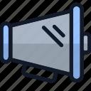 audio, bullhorn, electronics, sound, speaker, volume icon