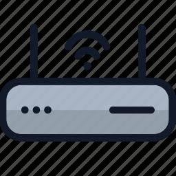 electronics, internet, modem, network, router, wi-fi, wireless icon
