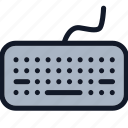 computer, electronics, equipment, keyboard icon
