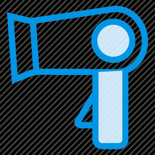 Beauty, blowdryer, dryer, hair, hairdryer, product, salon icon - Download on Iconfinder