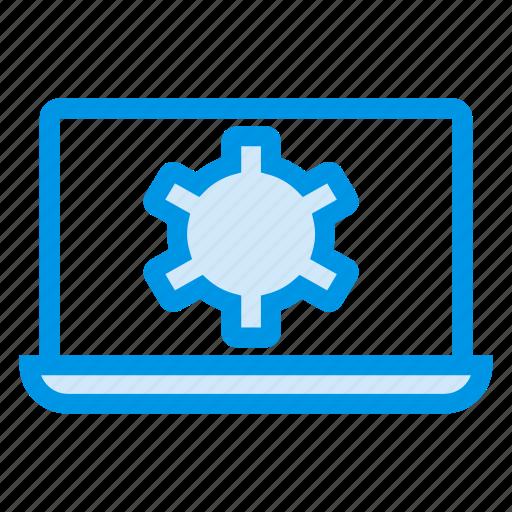 configuration, control, laptop, mac, options, setting, tools icon