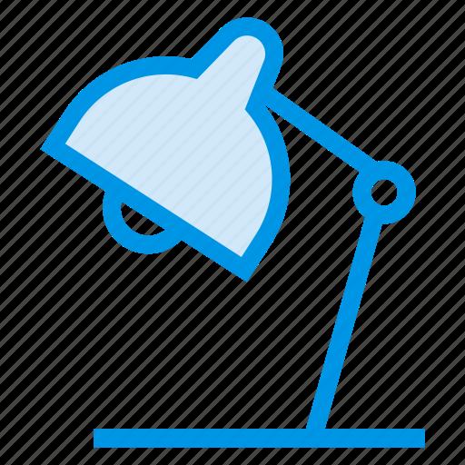 desklamp, desklight, electronic, lamp, light, office, tablelamp icon