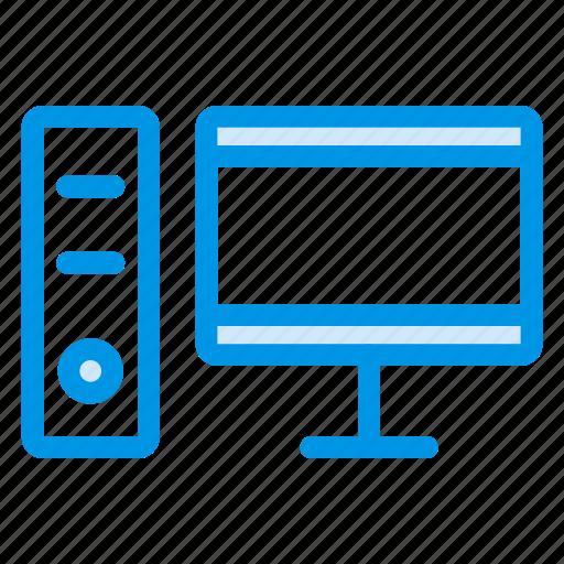 computer, device, hardware, monitor, pc, processor, technology icon