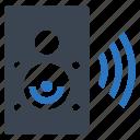 audio, music, sound, speaker, wireless icon
