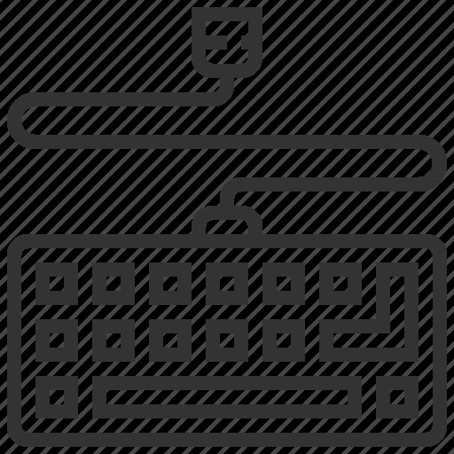 computer, desktop, device, keyboard, technology icon