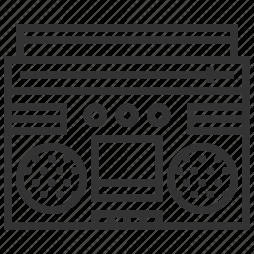 audio, multimedia, music, radio, sound, speaker icon