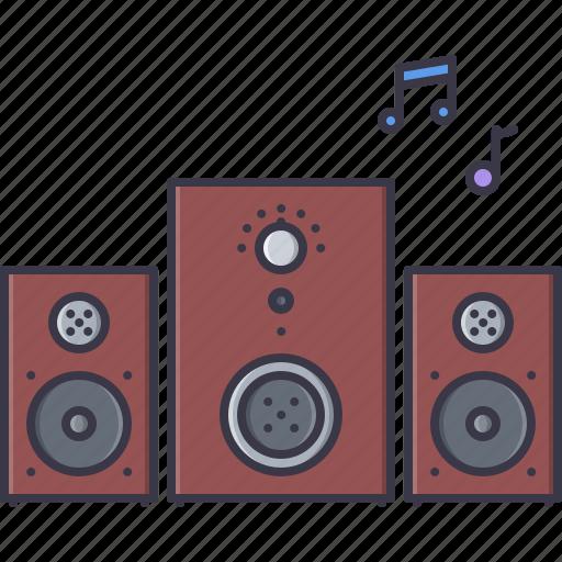 appliances, electronics, gadget, music, speaker, subwoofer, technology icon