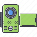 appliances, camcorder, electronics, gadget, technology, video icon