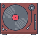 appliances, electronics, gadget, record, technology, turntable, vinyl icon