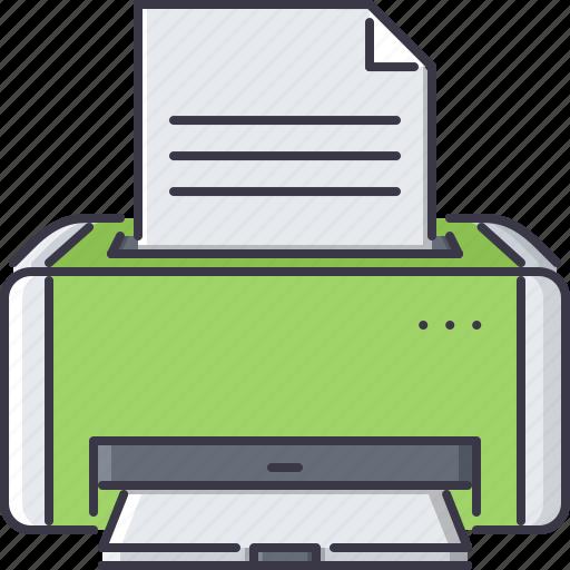appliances, electronics, gadget, paper, printer, technology icon