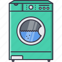 appliances, electronics, gadget, machine, technology, washing icon