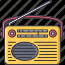appliances, electronics, gadget, radio, retro, technology icon