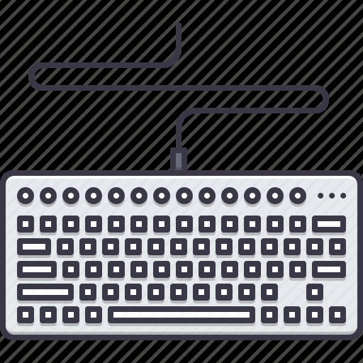 appliances, computer, electronics, gadget, keyboard, technology icon