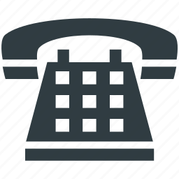 communication, phone call, phone set, telephone, vintage telephone icon