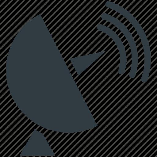Dish antenna, parabolic antenna, radar, satellite dish, space icon - Download on Iconfinder