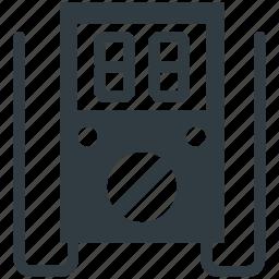 ammeter, ampere meter, digital meter, meter, volt meter icon