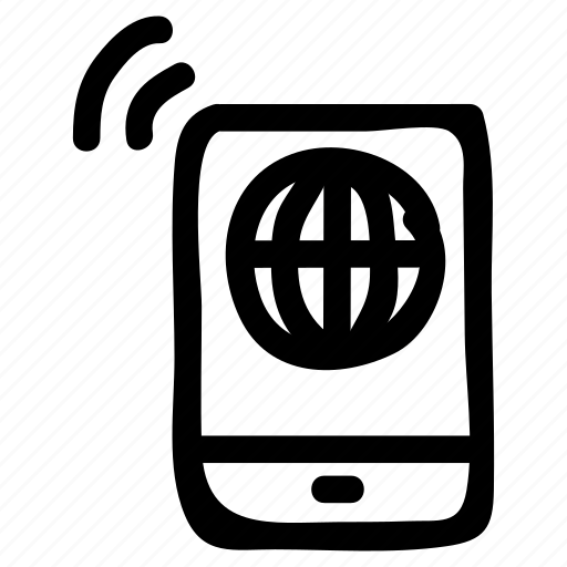 call, cellphone, device, mobile, phone, signal, smartphone icon