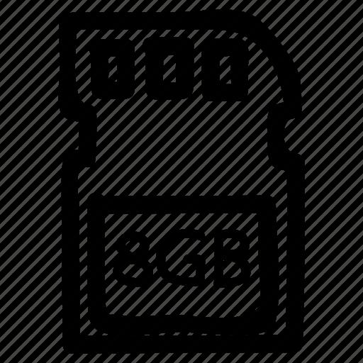card, data, memory, micro, sd, sdcard, storage icon