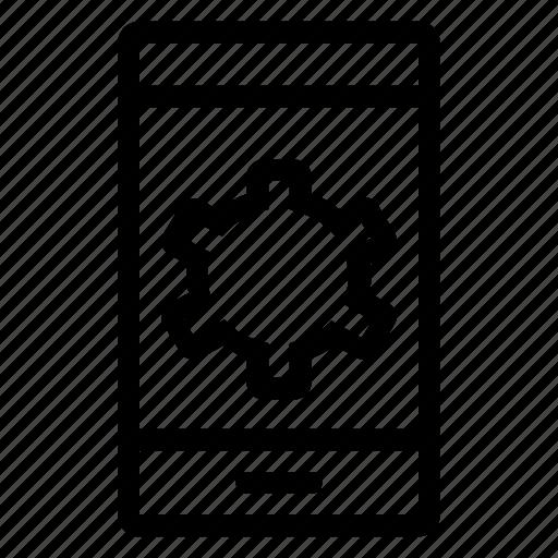 configurations, development, mobile, options, phone, setting, smartphone icon