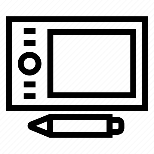 creative, design, draw, graphics, pen, pentablet, tablet icon
