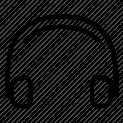 Headset, headphone, recording, player, music, voice, earphones icon