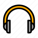 device, headphones, music, sound icon