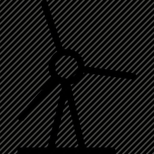 wind energy, wind farm, wind park, wind turbine icon