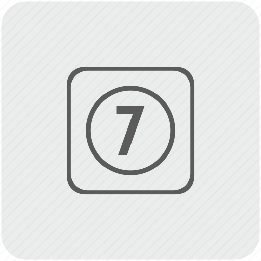 key, keyboard, number, seven icon