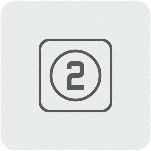 key, keyboard, number, two icon