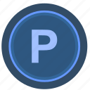 elevator, level, parking icon