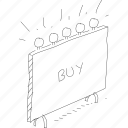 billboard, buy sign, cartoon, funny, sign, simplediagrams, special icon