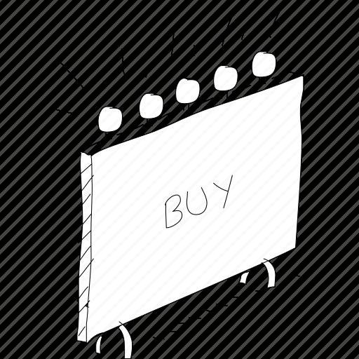 billboard, buy sign, cartoon, funny, sign, simplediagrams, special icon