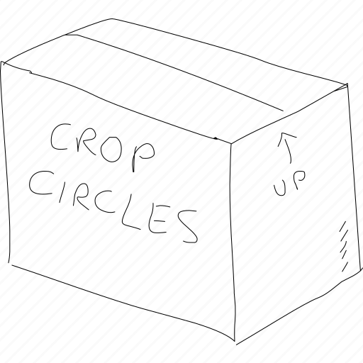 box, crop circles, delivery, fulfillment, package, simplediagrams, supply chain icon