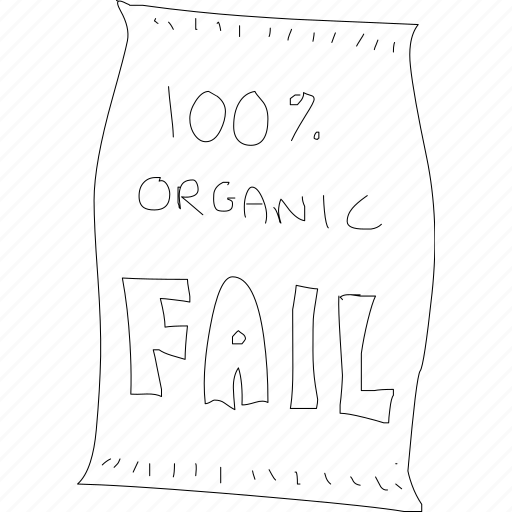 bag, cartoon, error, fail, funny, organic, simplediagrams icon