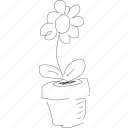 flower, fresh, nice nice, plant, pot, simplediagrams icon