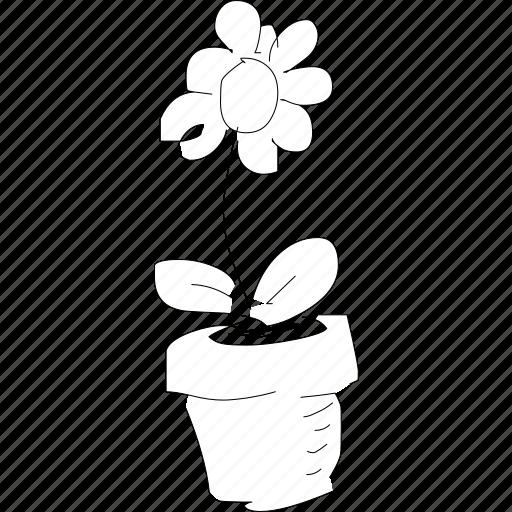 flower, fresh, nice nice, plant, pot, simplediagrams icon