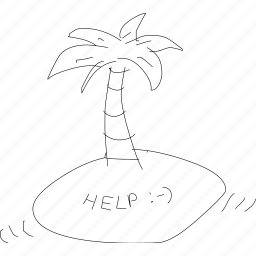cartoon, funny, help, island, message, simplediagrams, support icon