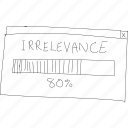 cartoon, funny, irrelevance, irrelevant, percent, progress, simplediagrams icon